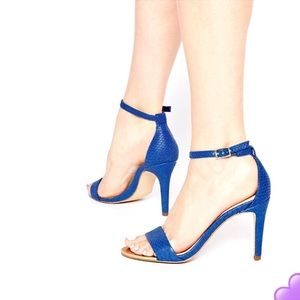 Aldo Ridia Blue Metal barely there heeled sandals